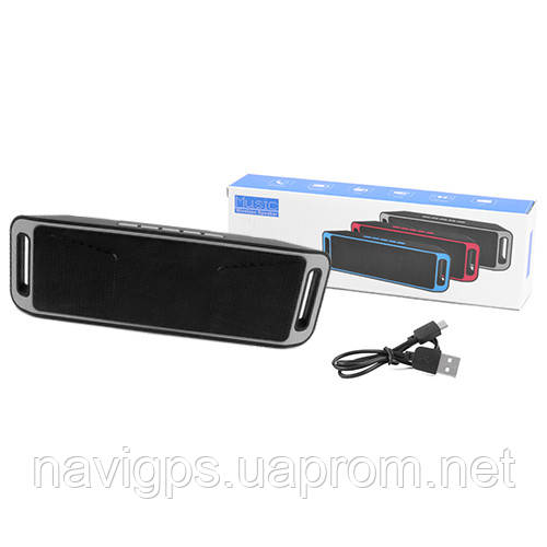 Bluetooth-колонка SC-208 c функцией speakerphone, радио, grey