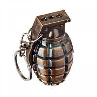 Фонарь брелок граната 810-2LED, лазер, 3xLR1130