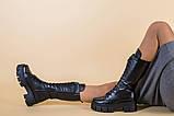 Сапоги женские кожаные черные демисезонные, фото 6
