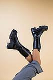 Сапоги женские кожаные черные демисезонные, фото 5