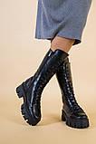 Сапоги женские кожаные черные демисезонные, фото 7