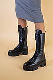 Сапоги женские кожаные черные демисезонные, фото 8