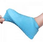 Силіконові чохли бахіли для взуття від дощу і бруду розмір L 42-45 розмір колір сині, фото 5