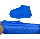 Силіконові чохли бахіли для взуття від дощу і бруду розмір L 42-45 розмір колір сині, фото 4