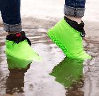 Силіконові чохли бахіли для взуття від дощу і бруду розмір L 42-45 розмір колір сині, фото 7