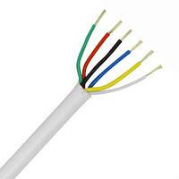 Сигнальный кабель 6х0.22 бел. (бухта - 100м)