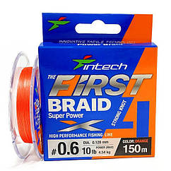 Шнур плетеный Intech First Braid X4 #0.6/0.128mm (10lb/4.54kg) 150m