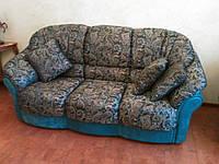 Перетяжка диванов + кресло в Днепропетровске