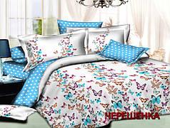 """Семейный набор хлопкового постельного белья из Бязи """"Gold"""" с простынью на резинке №147453 Черешенка™"""