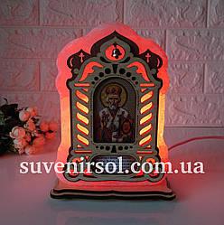 Соляной светильник Икона большая Николай
