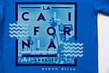 Футболка детская для мальчика SmileTime California Ocean Drive, васильковая, фото 2