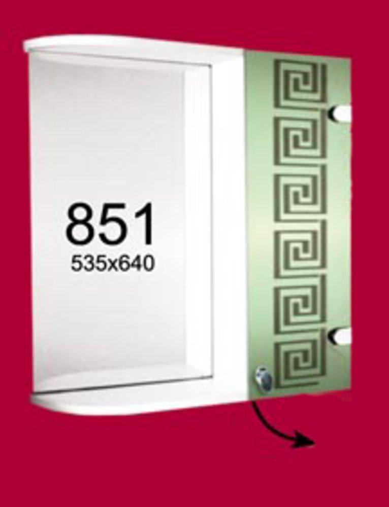Зеркальный шкаф настенный 535*640 мм №851