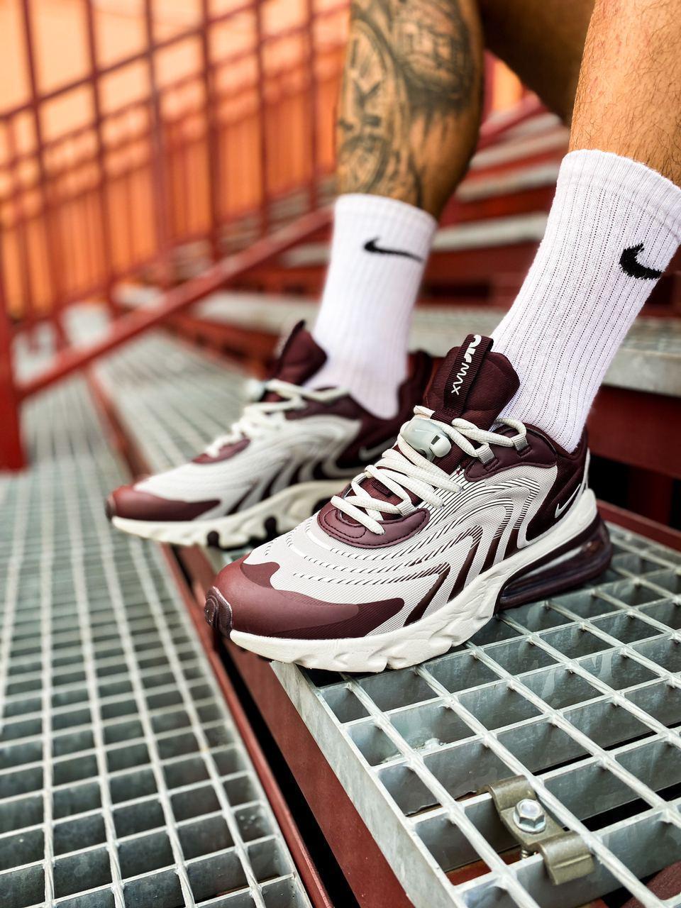 Мужские Кроссовки Nike Air Max 270 React (реплика)