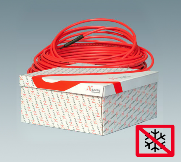Система сніготанення 7,3м² - 9,6м² 2700W 96,4м D7mm Defrost snow red TXLP/2R 28W/m Nexans