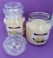 Свеча ароматизированная в сосуде AURA Bispol с запахом ванили время горения 30 часов