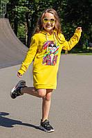 Детское платье-туника с капюшоном  от производителя, фото 1