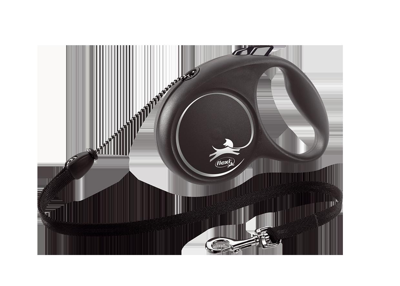 Поводок-рулетка Black Design трос M (5 м; до 20 кг) (серебряный)