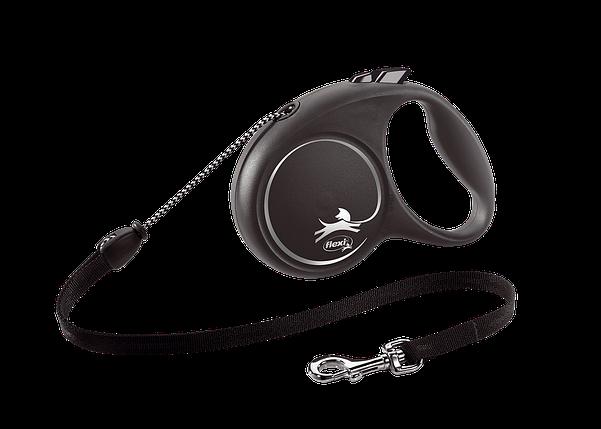 Поводок-рулетка Black Design трос M (5 м; до 20 кг) (серебряный), фото 2