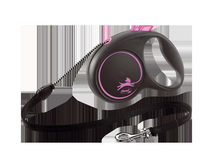 Поводок-рулетка Black Design трос XS (3 м; до 8 кг) (розовый)