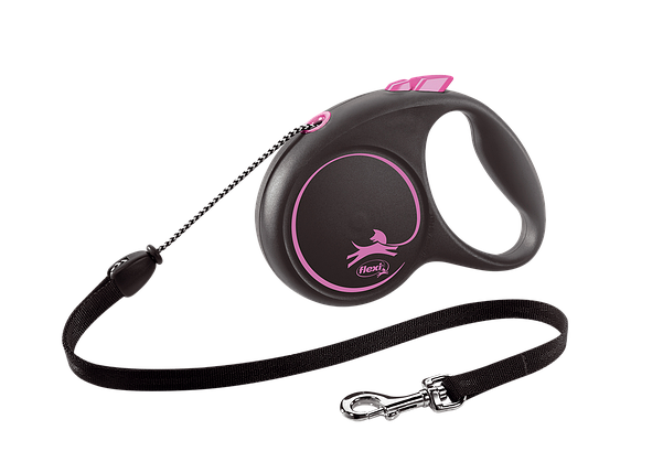 Поводок-рулетка Black Design трос XS (3 м; до 8 кг) (розовый), фото 2