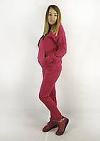 Теплый красный спортивный костюм для женщин на флисе с толстовкой и брюками XL, XXL, 3XL, фото 1