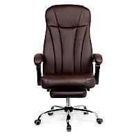 Кресло офисное с подножкой  Smart BL0102 коричневое Goodwin, фото 1