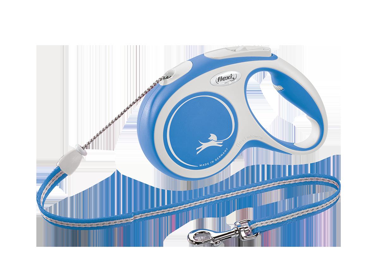 Поводок-рулетка New Comfort трос S (8 м; до 12 кг) (синий, 2020)