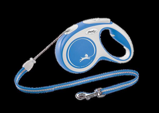 Поводок-рулетка New Comfort трос S (8 м; до 12 кг) (синий, 2020), фото 2