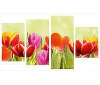 "Модульная картина из 4-х частей  ""Тюльпаны"""