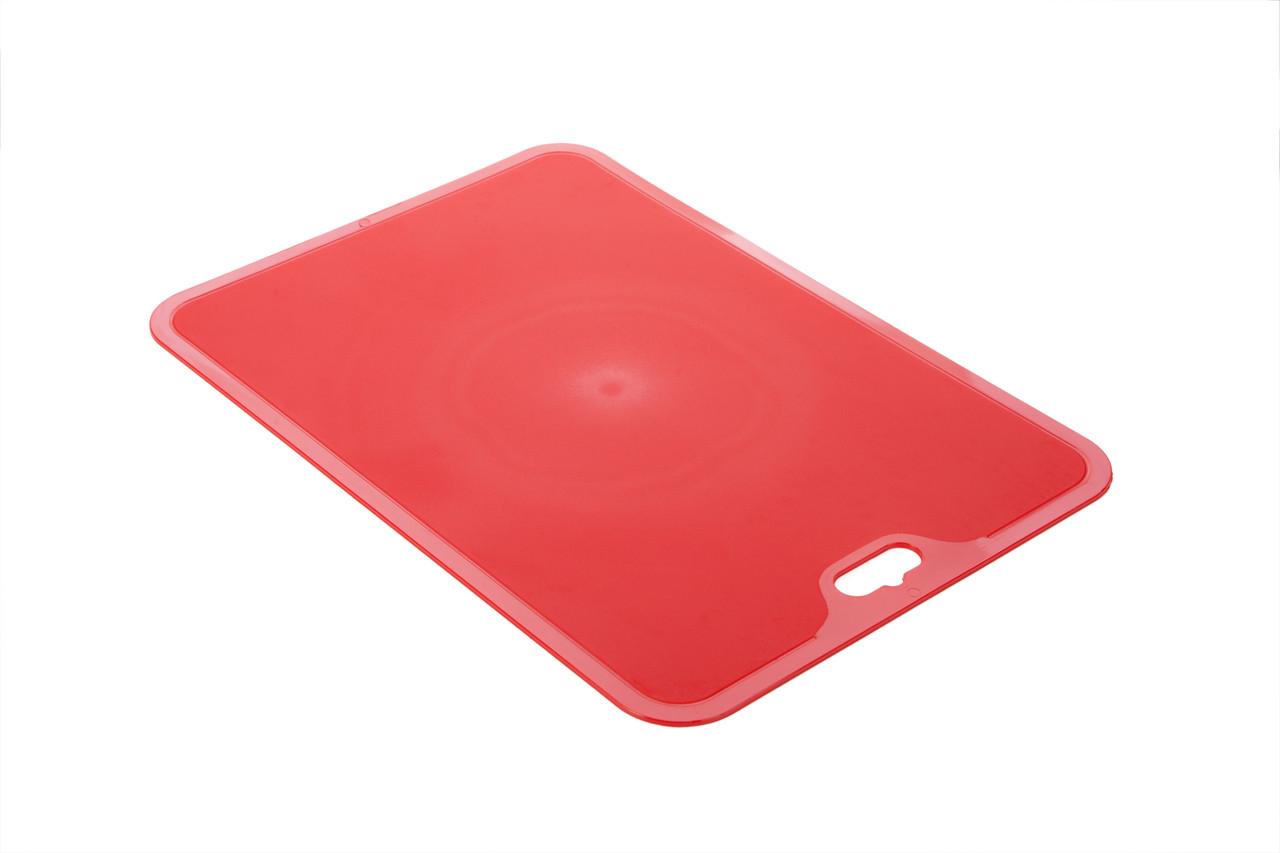 Гибкая силиконовая разделочная доска нескользящая Berossi Flexi XL 35х25 см красный