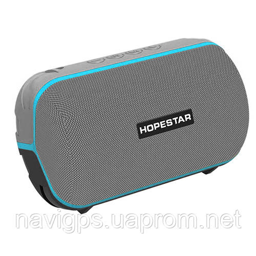 Bluetooth-колонка HOPESTAR-T6 MINI, StrongPower, c функцией speakerphone, радио, PowerBank, grey