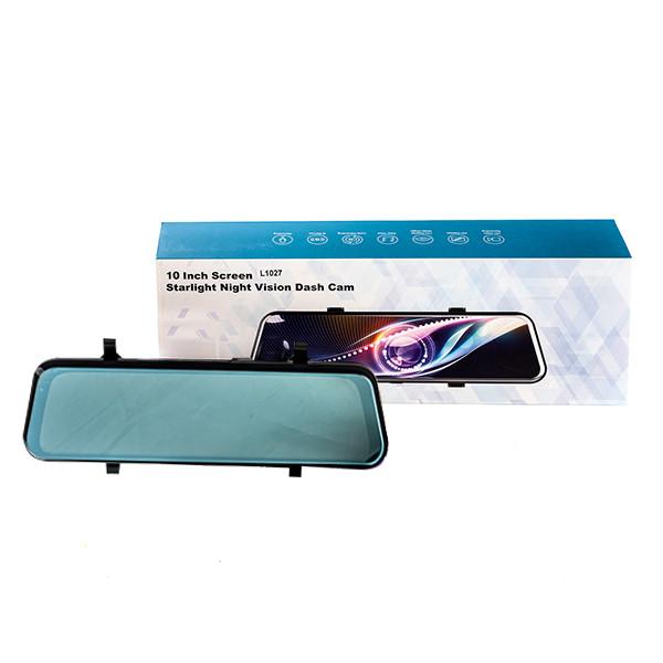 """Зеркало видеорегистратор L1027, 10"""" дюймов 2 камеры"""
