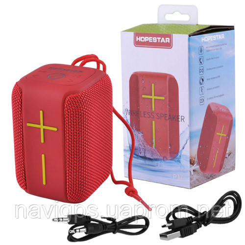 Bluetooth-колонка HOPESTAR-P16, StrongPower, c функцией speakerphone, радио, PowerBank, red