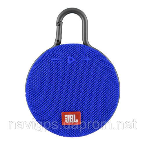 Bluetooth-колонка JBL CLIP3, c функцией speakerphone, радио, blue