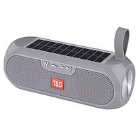 Bluetooth-колонка SPS UBL TG182, c функцией speakerphone, радио, PowerBank, часы, солнечная батарея, grey