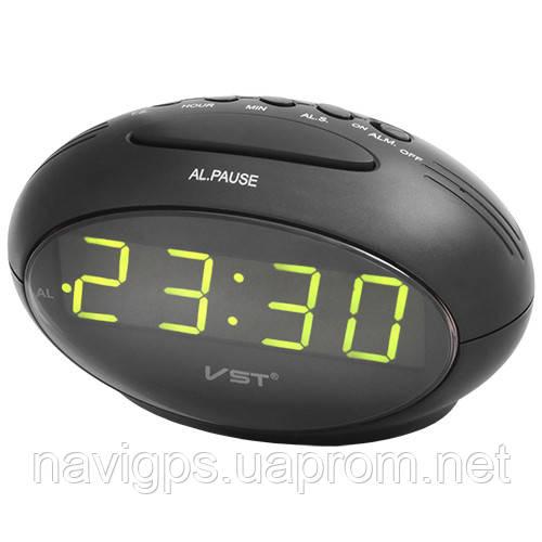 Часы сетевые VST-711-2 зеленые, USB