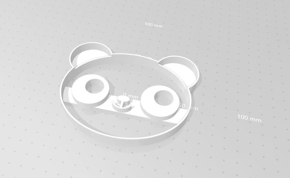 Висічка для пряників у вигляді панди