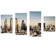"Картины из 4-х частей на холсте ""Лондон уром"", фото 1"