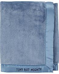 """Плед для новорожденного Carter's голубой """"Tiny but mighty"""", мягкое теплое плюшевое одеяло"""