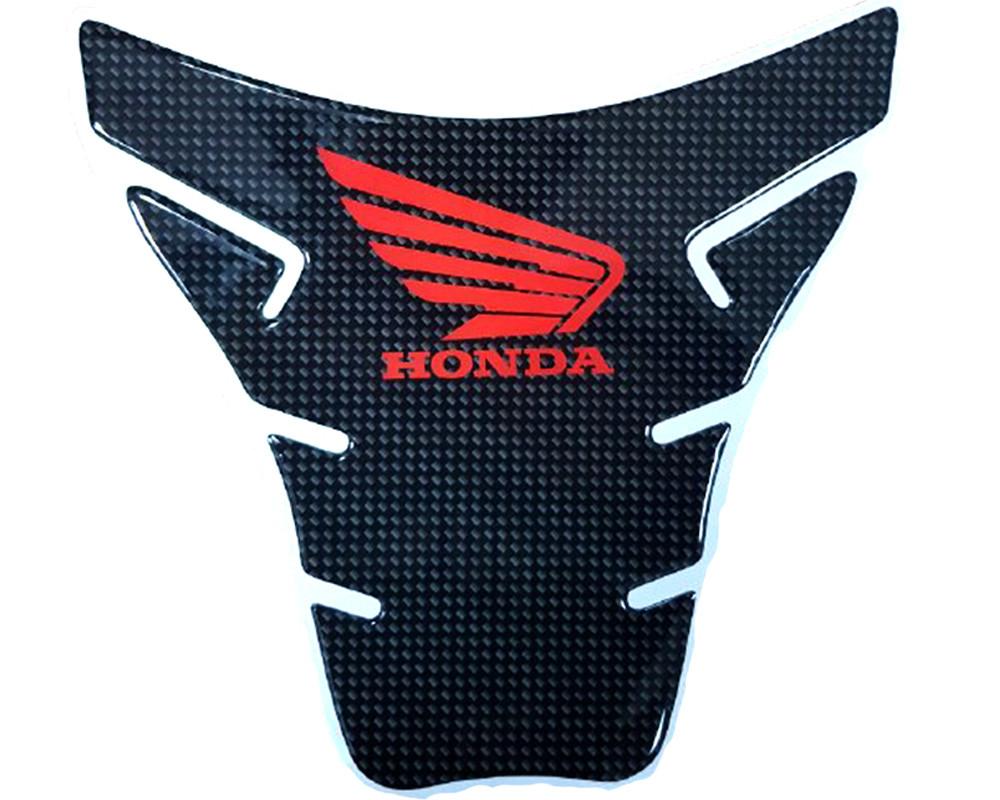 Наклейка на бак NB-5 карбон Honda Red