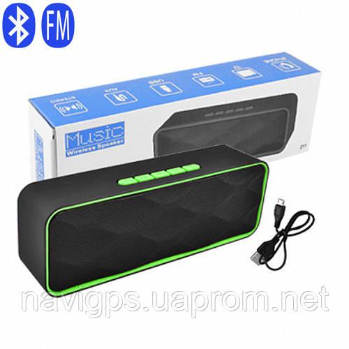 Bluetooth-колонка SC-211, c функцией speakerphone, радио, green