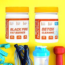 Комплекс: Black Fire Fat Burner Супер фигура + Очистка организма Хит для стройнЯшек! DETOX Cleaning