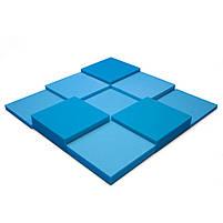 Панель из акустического поролона Ecosound Pattern Blue 60мм, 60х60см цвет синий, фото 2