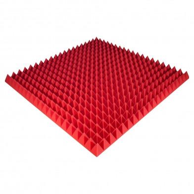 Панель из акустического поролона Ecosound Pyramid Color 70 мм, 100x100 см, красная