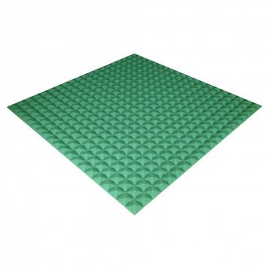 Панель з акустичного поролону Ecosound Pyramid Color 20 мм, 100x100 см, зелена