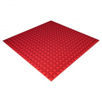 Панель из акустического поролона Ecosound Pyramid Color 20 мм, 100x100 см, красная