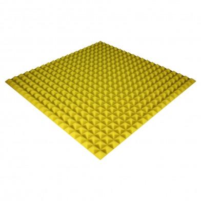 Панель з акустичного поролону Ecosound Pyramid Color 25 мм, 100x100 см, жовта