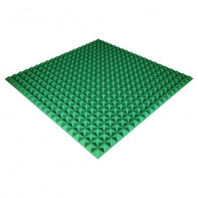 Панель з акустичного поролону Ecosound Pyramid Color 30 мм, 100x100 см, зелена