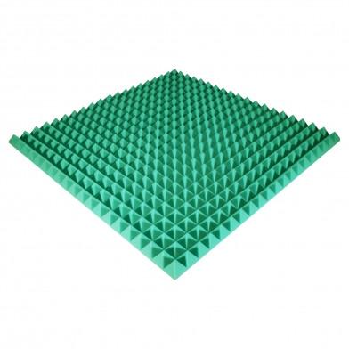 Панель з акустичного поролону Ecosound Pyramid Color 50 мм, 100x100 см, зелена