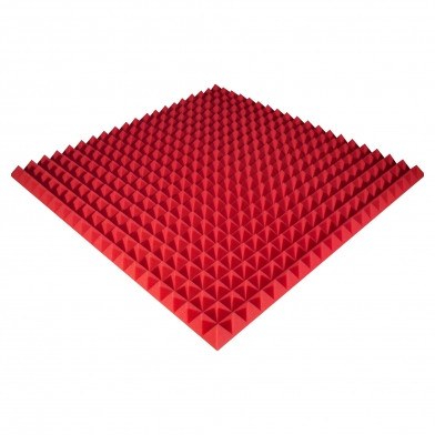 Панель из акустического поролона Ecosound Pyramid Color 50 мм, 100x100 см, красная